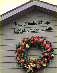 large outdoor lighted christmas wreaths - Large Outdoor Christmas Wreath