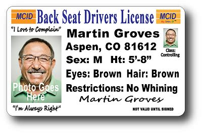 seat drivers license