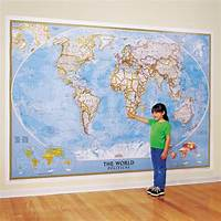 best world map wall murals World Classic Wall Map, Mural - National Geographic Store