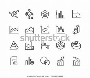 Simple Set Charts Diagrams Related Vector Stock Vector
