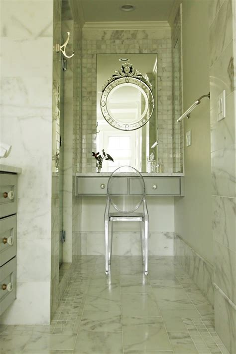 Transitional Living Room Leather Sofa by Innovative Lucite Dining Chairs In Bathroom Transitional