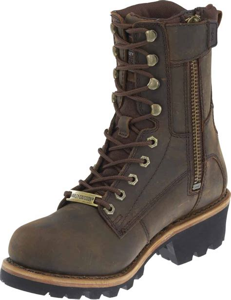 brown motorcycle boots for men harley davidson men 39 s tyson 7 5 inch brown logger style