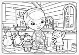 Coloring Doctor Mcstuffins Printable Doc Coloringoo Printables Disney Junior Drawing sketch template