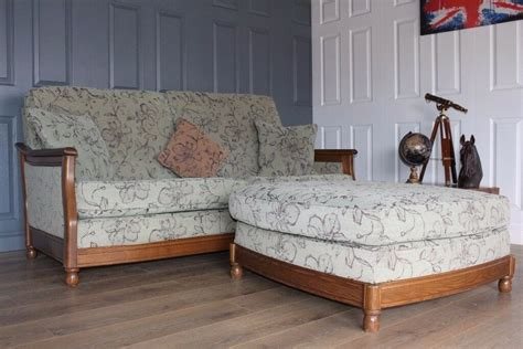 Ercol Bergere Sofa by Designer Ercol Bergere 3 Seater Sofa And Footstool Suite