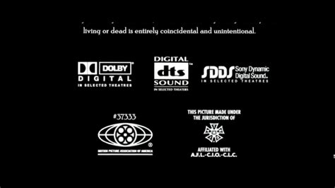 Digital dts sound logo sdds logo color by deluxe logo panavision logo end credits logo mpaa logo dsp logo. Digital Dts Sdds Mpaa Iatse Kodak Dolby