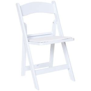 white wedding resin folding chair vestal ithaca