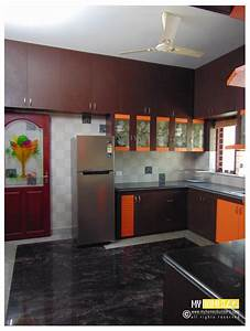 Kerala kitchen designs idea in modular style for house in for Interior design for kitchen in kerala