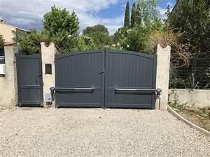 Installer Un Portail : pose d 39 un portail battant alu d 39 un portillon alu et ~ Premium-room.com Idées de Décoration