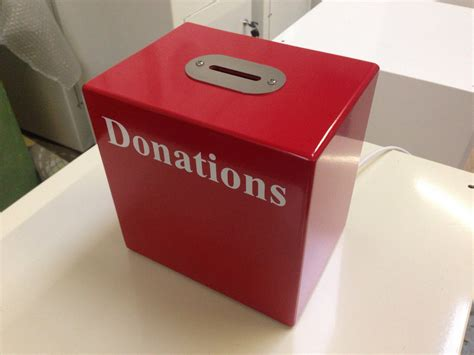 steel top table table top donation box small donation box constructed