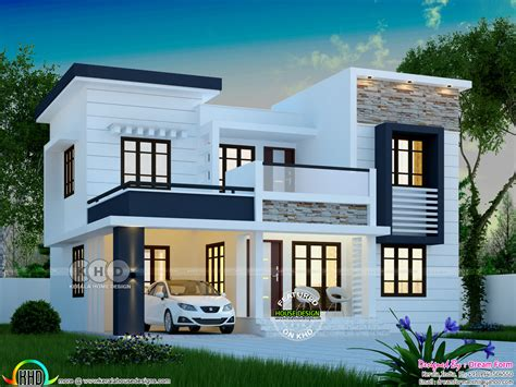 House With 4 Bedrooms by 1748 Square Modern 4 Bedroom House Plan Kerala Home
