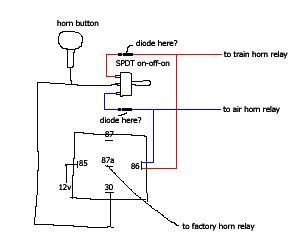 Multiple Horns With One Switch
