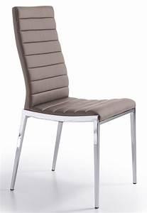 Chaise Capitonnée Taupe : chaise design matelass e taupe dona lot de 2 ~ Teatrodelosmanantiales.com Idées de Décoration