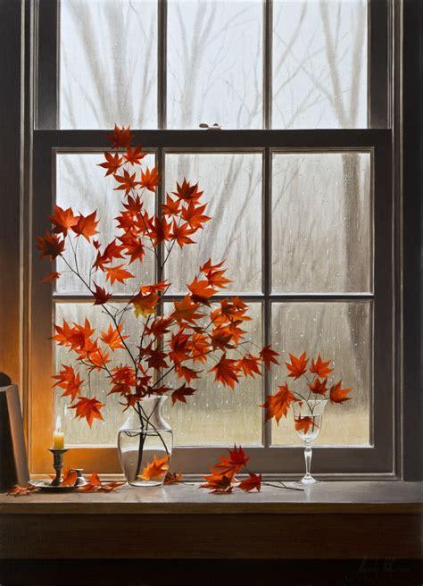 Herbstmotive Fenster by Autumn Window With Maple 187 Volkov