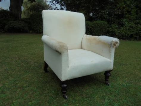 Antique Upholstered Armchair For Recovering C.1880