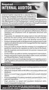Required Internal Auditor Ad - Advert Gallery