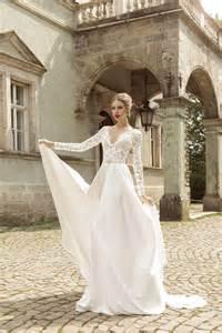 white lace wedding dress v neck sleeve with beading chiffon white lace wedding dress 2474425 weddbook