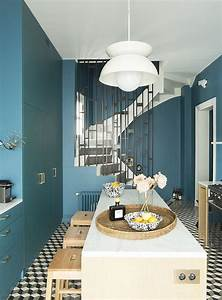 the 25 best cuisine bleu canard ideas on pinterest vert With awesome quelle couleur avec le jaune moutarde 7 cuisine grise marie claire