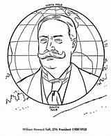 Taft William Coloring Howard President Presidents Printables Usa Printable sketch template