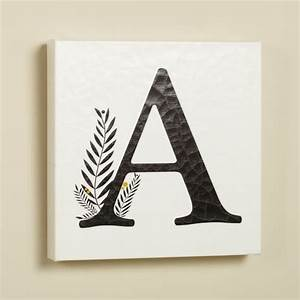 Alphabet canvas wall art pbteen for Letter canvas