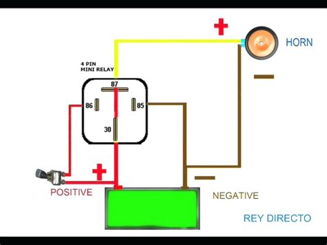 12v Horn Relay Wiring Diagram by 12v 5 Pin Relay Wiring Diagram How A Works Within