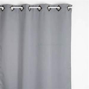 Rideau Gris Clair : rideau occultant 140 x h260 cm cocoon gris clair rideau occultant eminza ~ Teatrodelosmanantiales.com Idées de Décoration