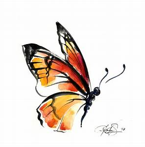 watercolor monarch butterfly | Photoshop: Clipart | Pinterest