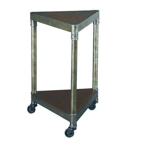end table with wheels small metal wedge end table on wheels decofurnish