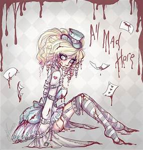 Drawn alice in wonderland creepy - Pencil and in color ...