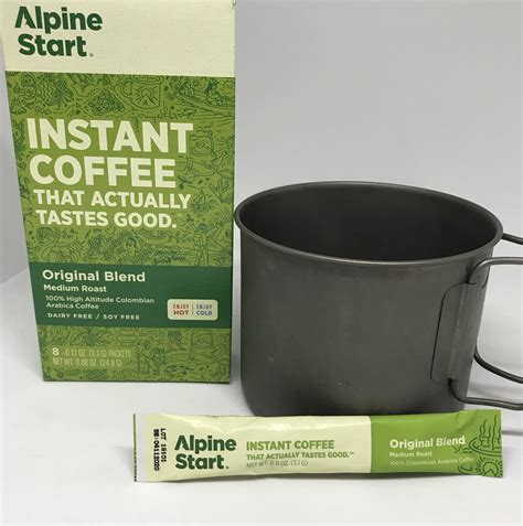 Alpine start has been making delicious instant coffee since 2016. Alpine Start Original Blend Instant Coffee for Backpacking, Camping - OutdoorPantry, Inc