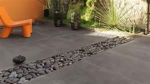 terrasse la pierre comme revetement de sol exterieur With exceptional amenagement d une terrasse exterieure 15 terrasse bois de france