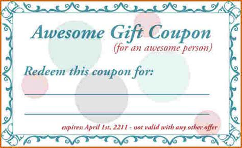 Template Coupons by 5 Printable Coupon Template Authorizationletters Org