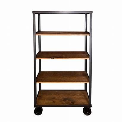 Center Entertainment Tall Cart Bookcase Bookshelf Foundry