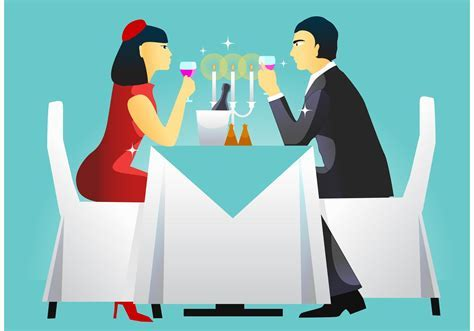 Dinner Table Setting Vector   Download Free Vector Art