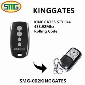 5pcs King Gates Stylo4 Rf Remote Control 433mhz King Gates Garage Remote  Wireless Relay  Code