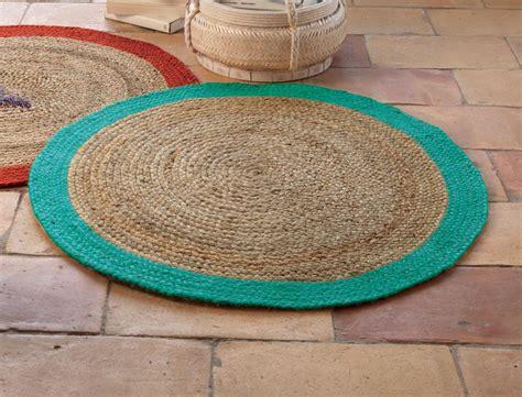 tapis rond turquoise sur la sorgue linvosges