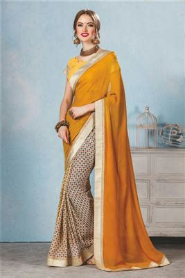 georgette fabric wholesale printed daily wear saree lowest