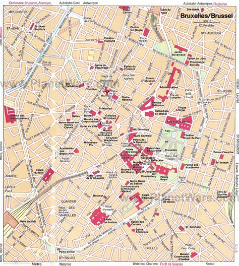 Maps Update #12001337 Brussels Tourist Map  14 Toprated