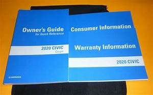 2020 Honda Civic Coupe Owners Manual Set Guide 20  Case Lx