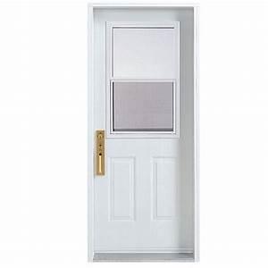 porte d39entree avec fenetre a guillotine 30 x 80 po With porte d entrée pvc avec plancher de salle de bain