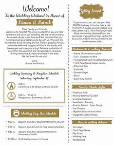 Wedding Weekend Timeline Template Wedding Welcome Letters Welcome Letters And Letters On