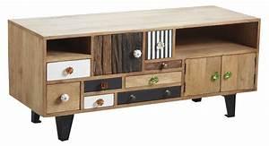 Meuble Tv Original : meuble tv original en manguier ~ Teatrodelosmanantiales.com Idées de Décoration