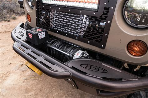 jeep jk venom winch front bumper add offroad