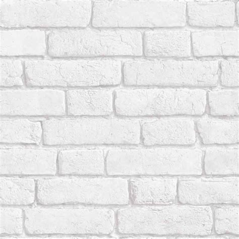 Tapisserie Brique Blanche by Papier Peint Briques Blanches Trompe L œil Rouleau 10m
