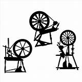 Spinning Silhouette Spindle Wheels Knitting Wheel Die Svg Yarn Drop Cuts Wool Disney Bags Spin Cutting Fairy Pottery Stencil Coloring sketch template