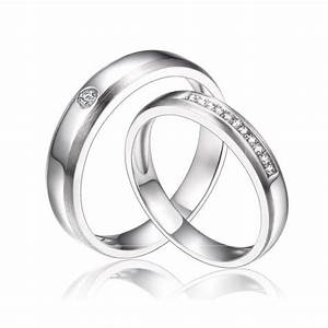 inexpensive matching couples diamond wedding ring bands on With silver wedding rings for couples