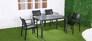 Table à Manger Noire : jardin table manger prix imbattable ~ Teatrodelosmanantiales.com Idées de Décoration