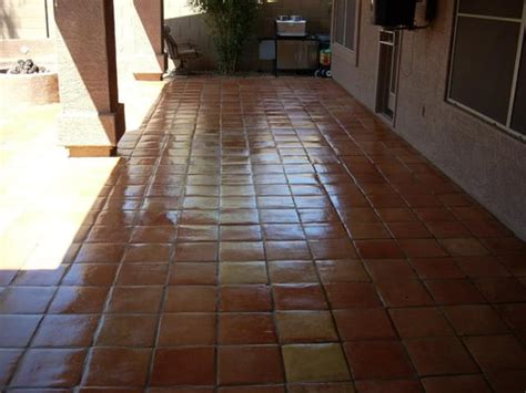 saltillo tile sealer exterior outdoor saltillo tile patio after stripping cleaning and