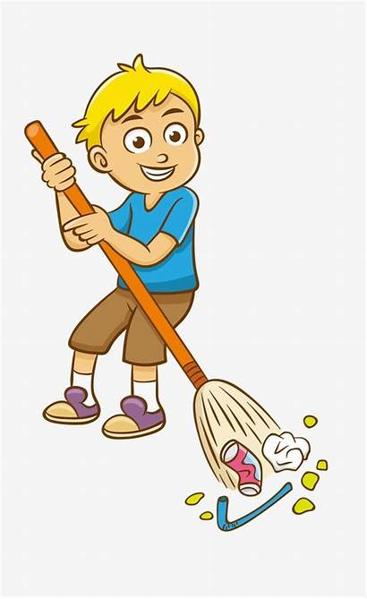 Clipart Sweeping Child Sweep Floor Clip Clean