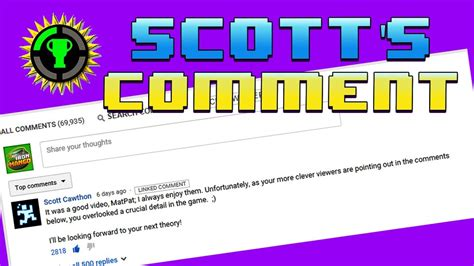 Game Theory Fnaf Matpat Didn T Delete Scott Cawthon S Comment Game