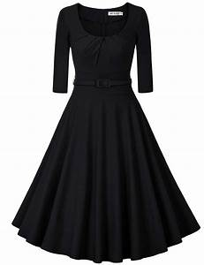 muxxn women39s 1950s vintage 3 4 sleeve pleated scoop With amazon robe ceremonie